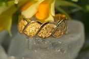 Custom Alaskan Gold Nugget Wedding Band white gold