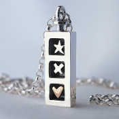 Sterling Silver Three Wishes Pendant