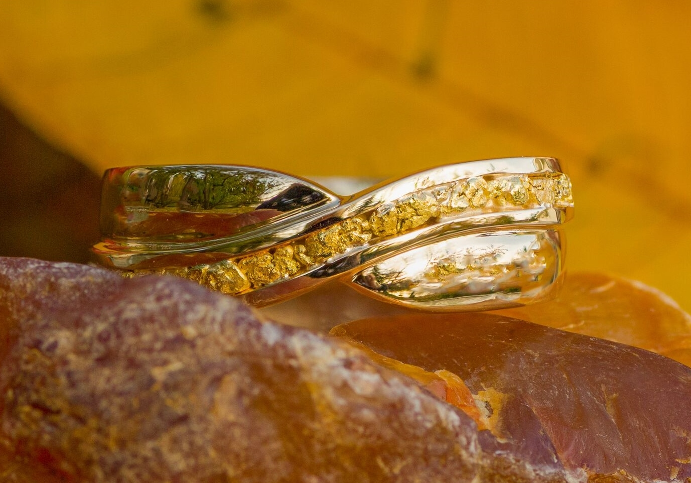 Alaskan Gold Nugget Wedding Band Gold Rush Fine Jewelry