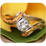Women's Solitaire Wedding Rings are elegant and forever. These striking Solitaire Wedding rings can feature genuine Alaskan Gold Nuggets, Diamonds, Rubies, Emeralds and more and are showcased in Yellow Gold, Rose Gold or White Gold.