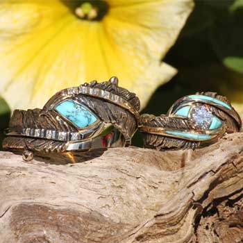 Alaska Gold Nugget Engagement Rings