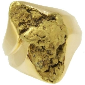 Alaskan Gold Nugget Ring in Yellow Gold