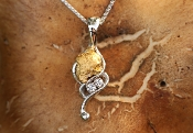 Double Diamonds and Alaskan Gold Nugget Pendant