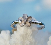 Forget Me Not Flower Diamond Ring in White Gold