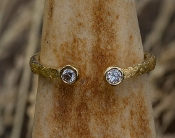 Alaskan Gold Nugget and diamond ring in 14kt Yellow Gold.