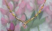 Natural Alaskan Gold Nuggets and Diamonds in 14k Necklace