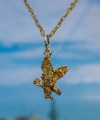 Bald Eagle hand crafted in 14kt Yellow Gold.