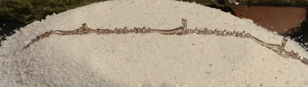 Wild Alaska Sled Dog Bracelet in Sterling Silver.