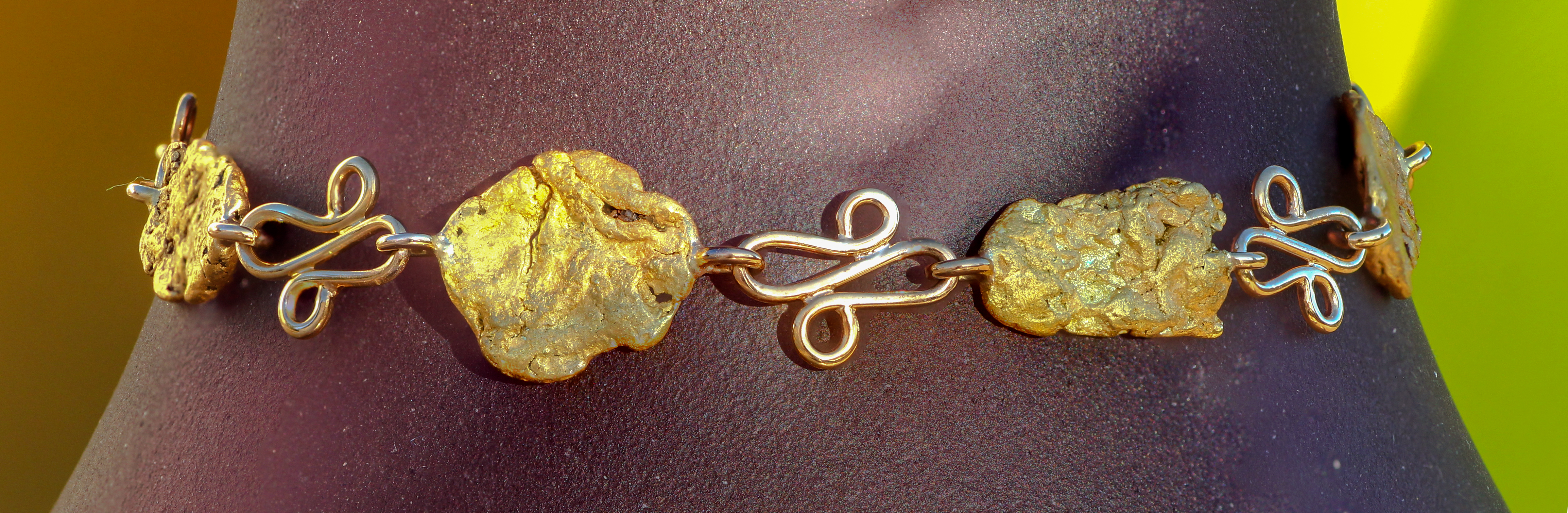 Alaskan Gold Nugget Bracelet in Yellow Gold