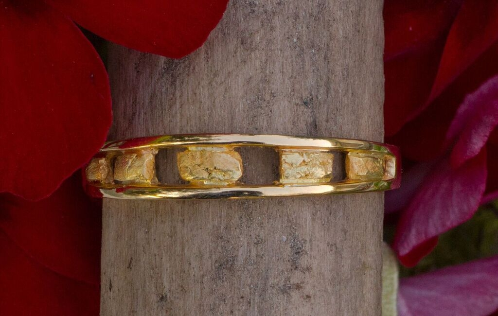 Alaskan Gold Nugget Band