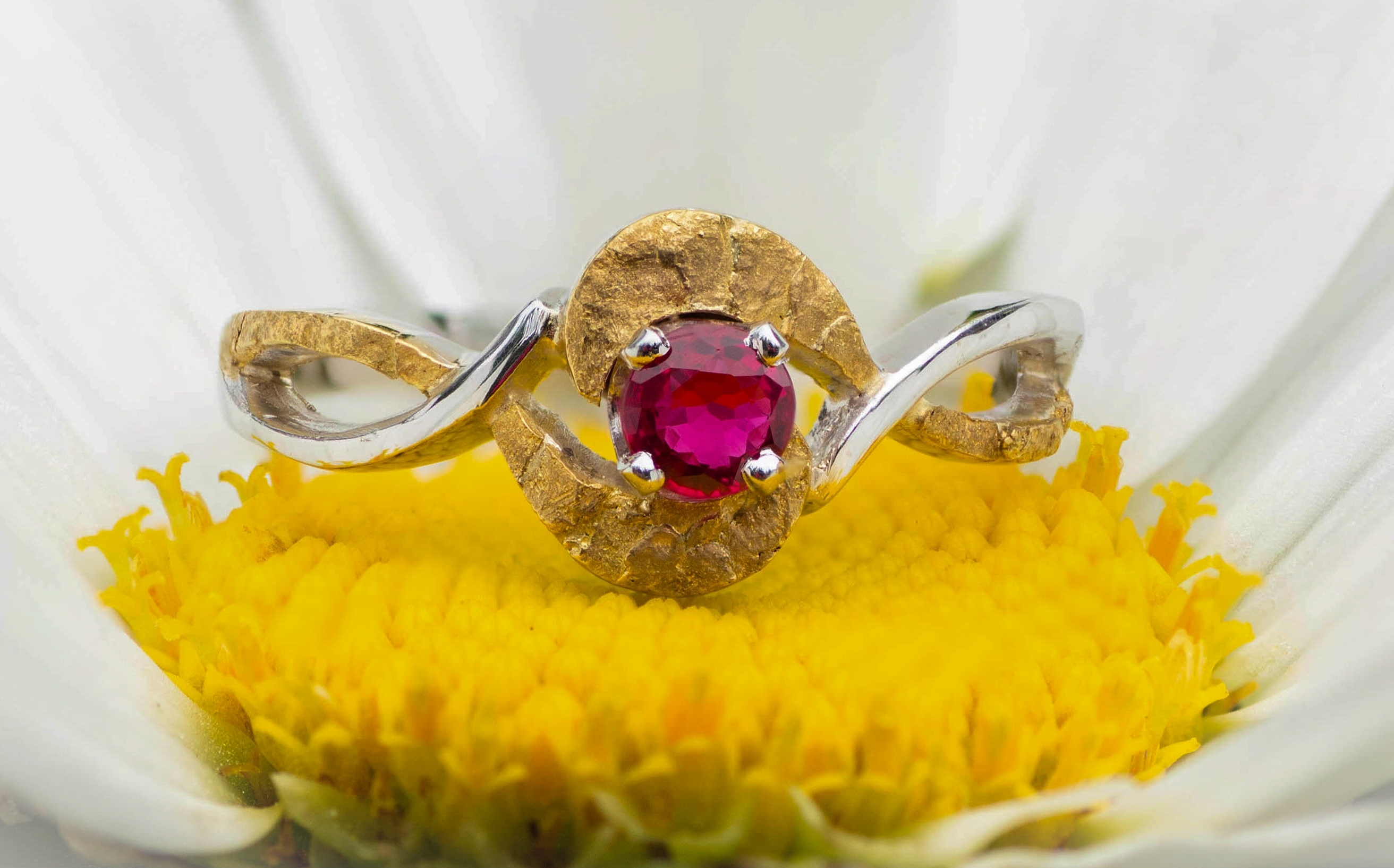 Gold Nuggets and Gemstone Rings