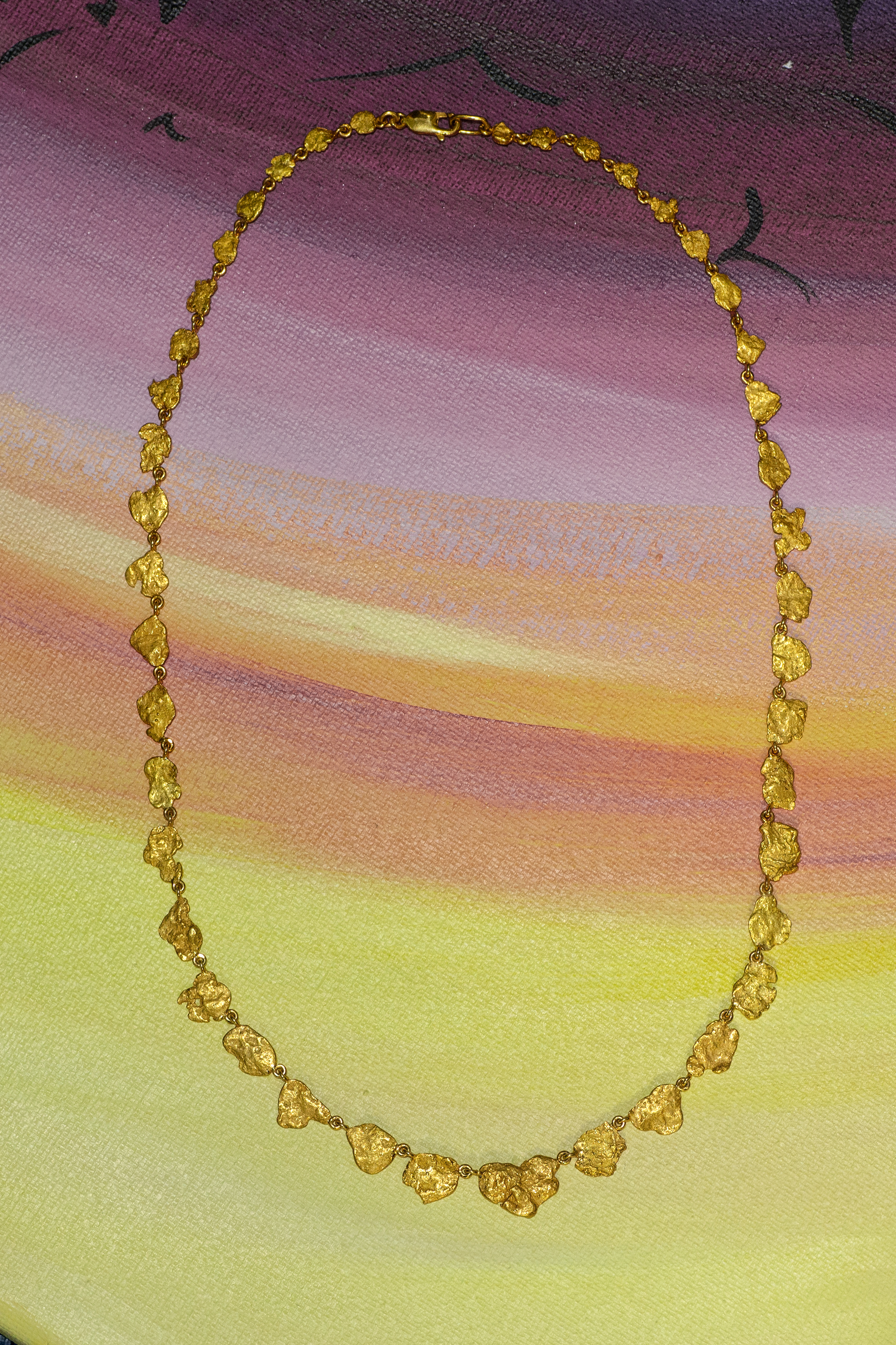 Natural Alaskan Gold Nugget Necklace