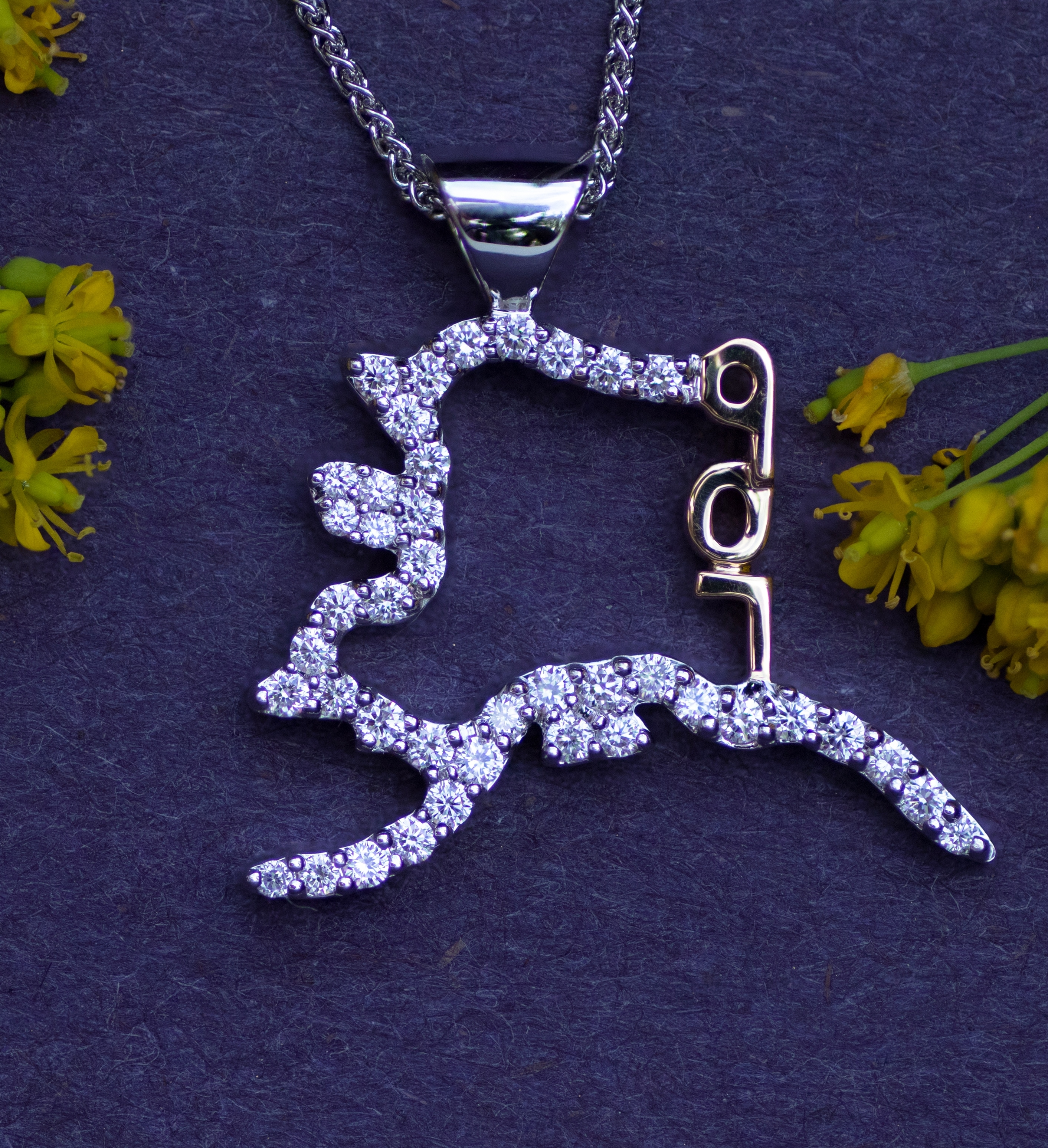 Alaska Pendant in 14kt White Gold with Diamonds