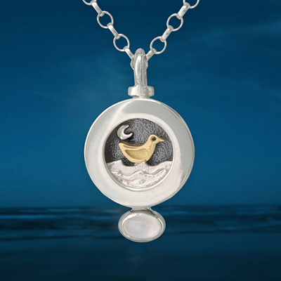 Sterling Silver Mini Moondance Pendant