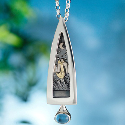 Sterling Silver Secret Garden Pendant