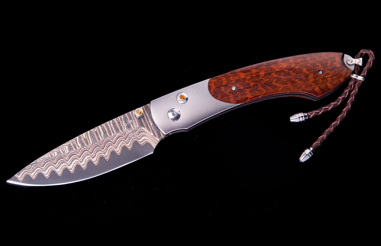 Spearpoint Keelback Luxury Pocket Knife - William Henry Knives