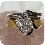 Solitaire Wedding Rings in White Gold